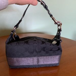 COACH Signature Jacquard Mini Bag Black & Silver